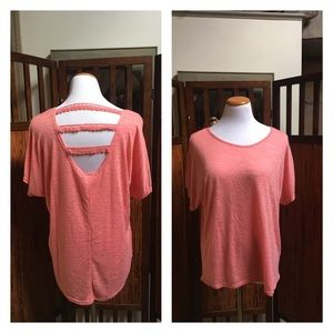 Moon Collection pink back-point top
