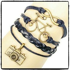 Jewelry - LEATHER CHARM BRACELET - 12AAA