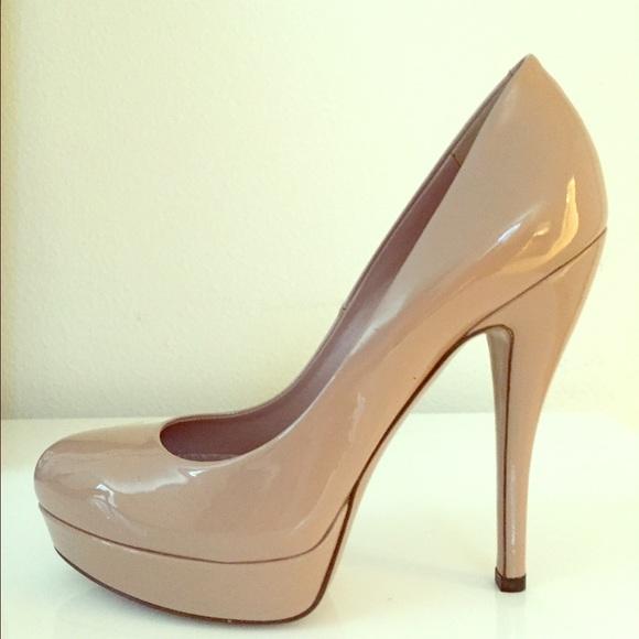 658ecd638d Gucci Shoes | Nude Patent Leather Platform Pumps | Poshmark