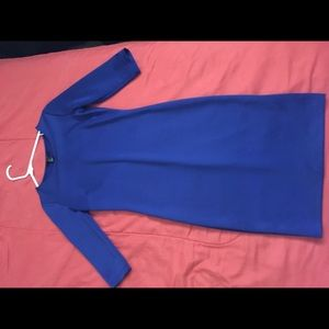 Fitted royal blue midi dress