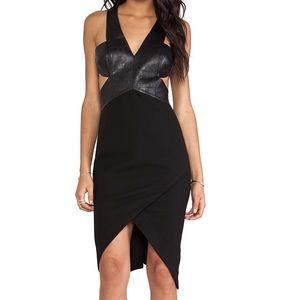 Shakuhachi Dresses & Skirts - Shakuhachi alligator cut-out dress w vegan leather