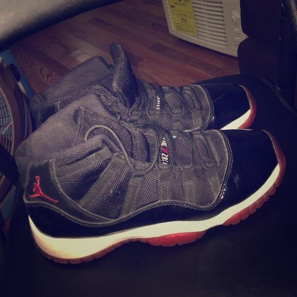 Jordan Shoes High Top Bred 11s Grade School Size 7 Boys Poshmark