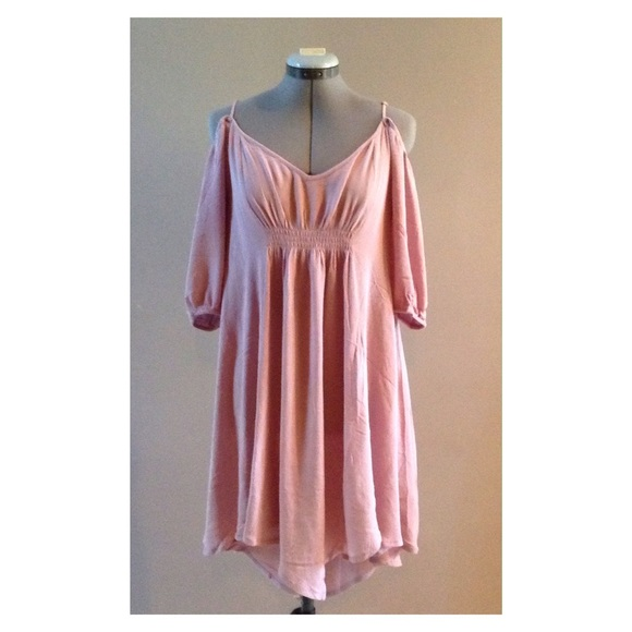 Poema Dresses & Skirts - Chiffon off the shoulder dress tunic sizes S M L