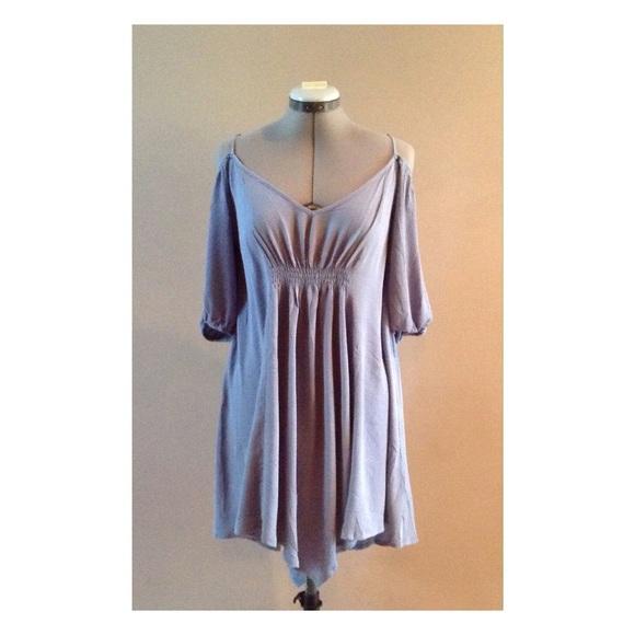 Poema Dresses & Skirts - Chiffon off the shoulder dress tunic sizes S M L