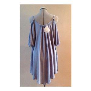 Poema Dresses - Chiffon off the shoulder dress tunic sizes S M L