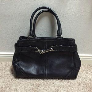 Black Coach leather purse