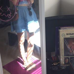 Forever 21 denim circle skirt
