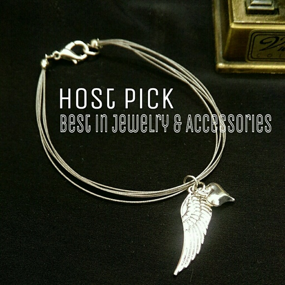 1eyed 1der designs Jewelry - Angel Wing w/ Heart Bracelet