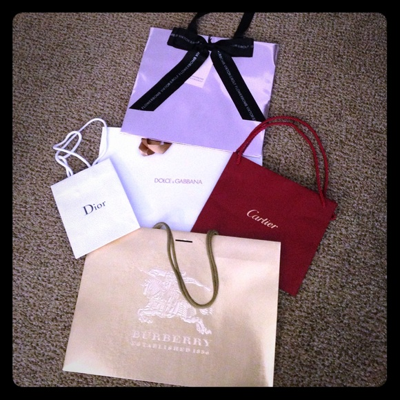 Cartier - Lot of high end designer shopping bags from Sarah's ...