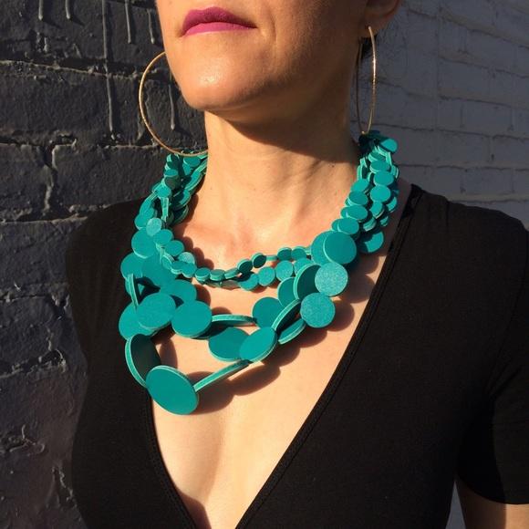 NWOT H&M Multi-Strand Circle Necklace