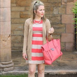 ASOS Dresses & Skirts - Orange & tan striped tee dress