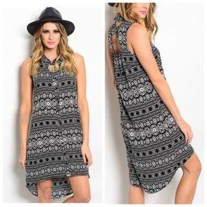 Jayssboutique Dresses & Skirts - Tribal black High Low Dress