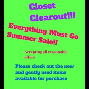 Other - ‼️CLOSET CLEAROUT‼️