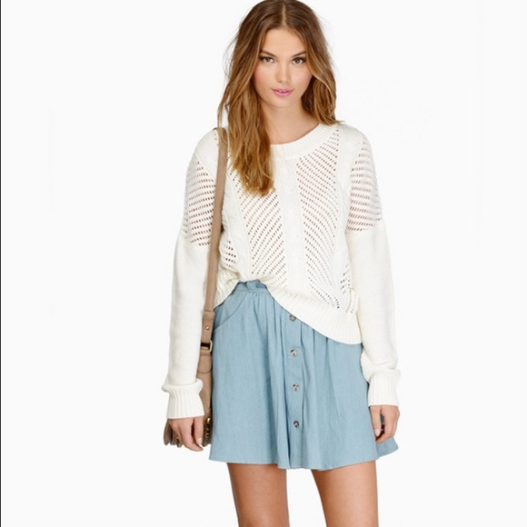 43% off Tobi Sweaters - Tobi Cream Cropped Sweater from Kelly's ...