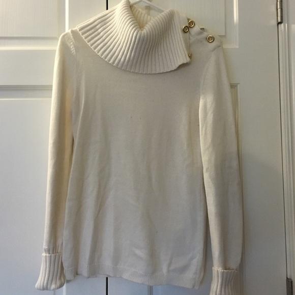 84% off Banana Republic Sweaters - Cream Banana Republic cowl neck ...