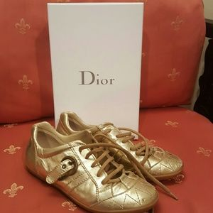 Dior Other - Gold Dior junior shoes