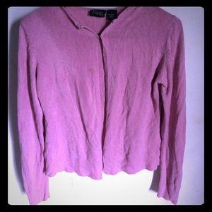 Sweaters - Pink Cardigan