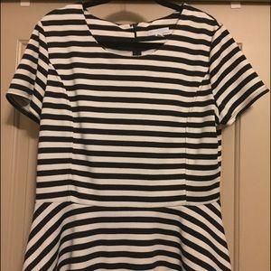 NY&Co striped peplum top