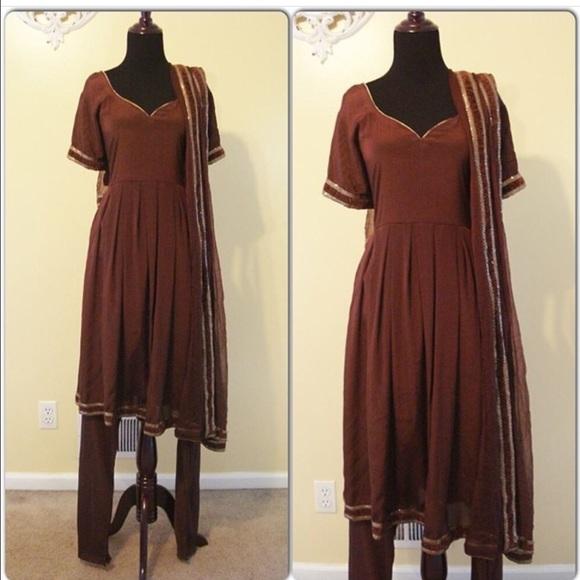 Dresses Brown Plus Size Anarkali 2x 3x 50 Nwt Indian Dress Poshmark