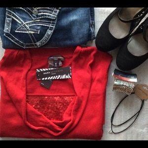 Dana Buchman Tops - 🔴 Sale 🍥 [Plus] Dana Buchman -Sequin Sweater Top