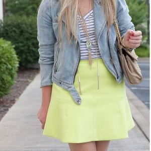 J. Crew Dresses & Skirts - J.crew fluted neon yellow skirt