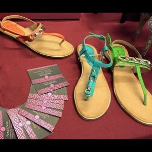 Shoes - SOLD New Teal open toe sandals