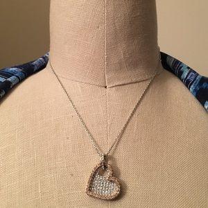 Swarovski Jewelry - Genuine Swarovski Crystal Layered Hearts Necklace