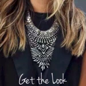 Silver and Rhinestone Statement Necklace