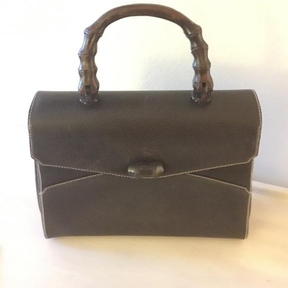 ef35f6e99 Gucci Bags | Vintage Leather Bamboo Bag | Poshmark