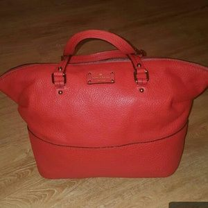 Authentic Kate Spade Red Leather Large Satchel