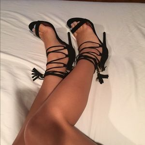 Shoes - Lace up heeled sandals