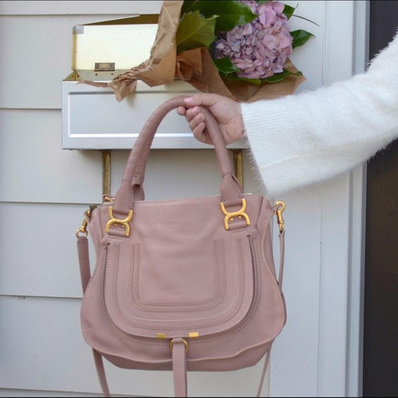 28c6a0506abf Chloe Bags | Chlo Marcie Handbag In Dusty Rose Colour | Poshmark