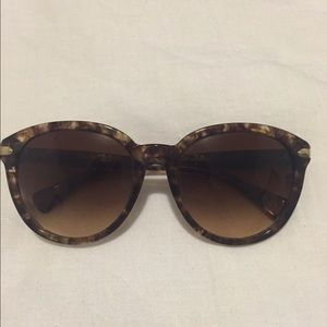 Coach tortoise shell sunglasses