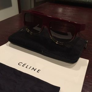 610b1906f458 Celine Accessories | Sale Shadow Sunglasses Red Clear Combo | Poshmark