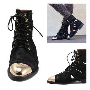 Jeffrey Campbell Shoes - Jeffrey Campbell Slashed Cap Combat Boots