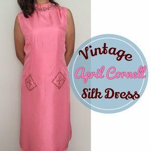 April Cornell Dresses & Skirts - Vintage Silk Asian Dress