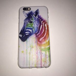 Accessories - Rainbow zebra iPhone 6 case