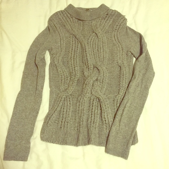Sweaters Thick Cable Knit Heather Grey Designer Sweater Poshmark
