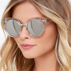 Quay China Doll Clear Mirrored Sunglasses