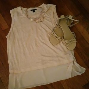 GAP perfect nude patent leather sandals.