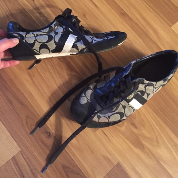 92 coach shoes black and white coach tennis from