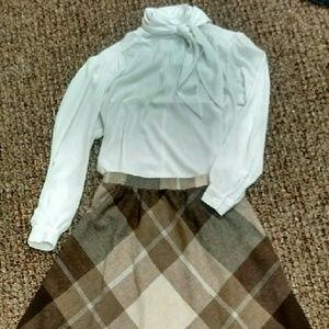 Vintage 1950s-60s soft satin blouse