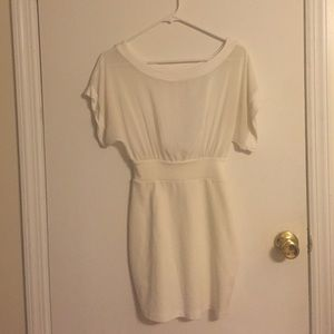 Dresses & Skirts - White shear fitted dress.