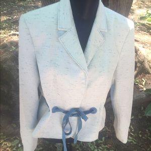 Nippon Boutique Jackets & Blazers - BEAUTIFUL baby blue sashed blazer