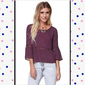 🌺B1G1🌺Deep purple top