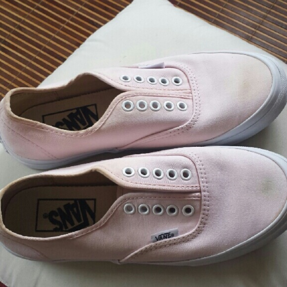 3af872d9c4213b Final Sale!!! Cute light pink vans without laces. M 57ded103981829b7f303ac1a