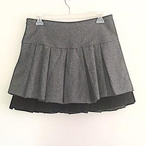 Steel gray wool skirt