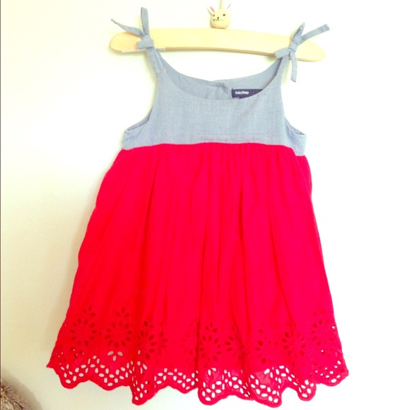 62715c2ba78 Baby GAP Other - Baby GAP Chambray and Red Eyelet Dress! 🇺🇸🎆🎉