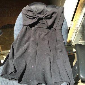 Black with glitter mini dress