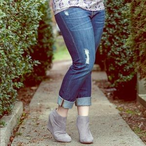 CAbi Denim - Cabi Distressed Slim Boyfriend Denim